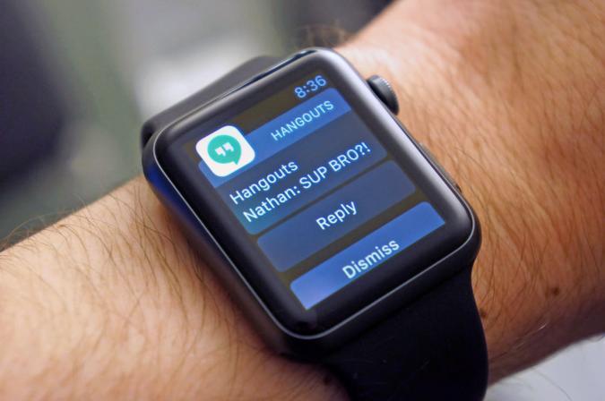 Google Hangouts finally supports Apple Watch