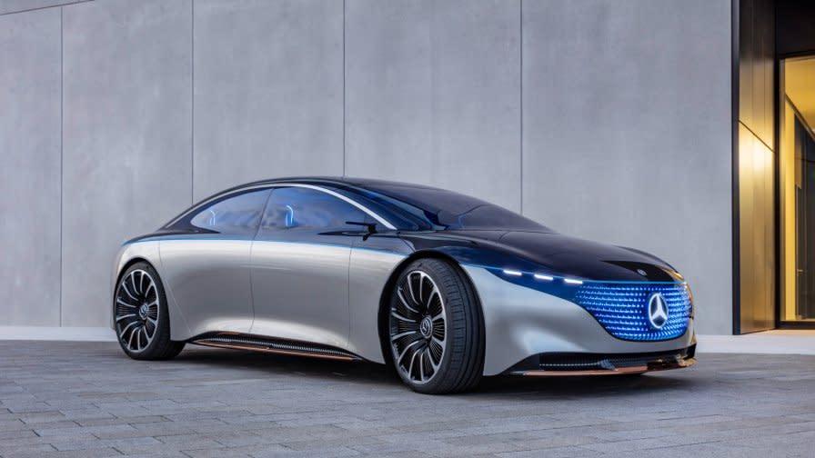 The Mercedes-Benz Vision EQS show car