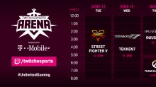 Here's the Twitch Esports Arena 2017 Street Fighter V, Tekken 7, Injustice 2, and Overwatch tournament schedules and players