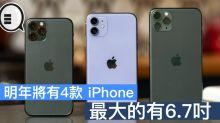 明年將有 4款 iPhone?最大的有6.7吋