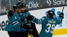 Kane's goal in OT leads Sharks past Blues 3-2