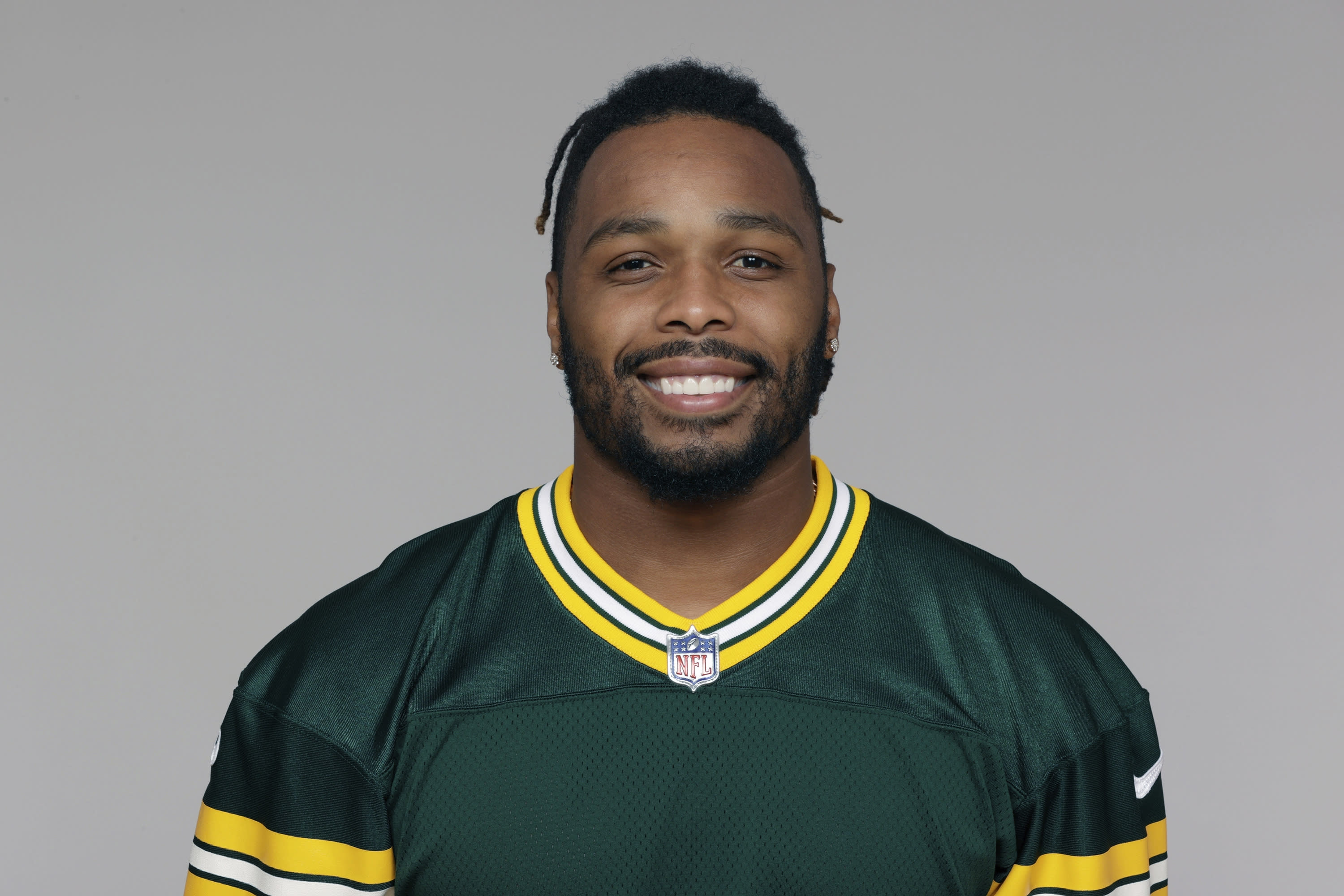 FILE - This is a 2020 photo showing Christian Kirksey of the Green Bay Packers NFL football team. Packers linebacker Christian Kirksey was one of the NFL's most prolific tacklers before injuries caused him to miss most of the last two seasons. Now the former Cleveland Brown is with a new team and eager to boost a run defense that was gashed in last years NFC championship game. (AP Photo/File)