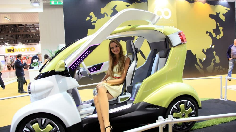 SYM創新四輪電動車ex4U  2014米蘭車展震撼登場