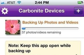 Carbonite Mobile backs up the contents of your phone, Android version supports remote wipes