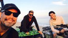 Por estas fotos en la playa Tinelli deberá pagar una multa en Uruguay