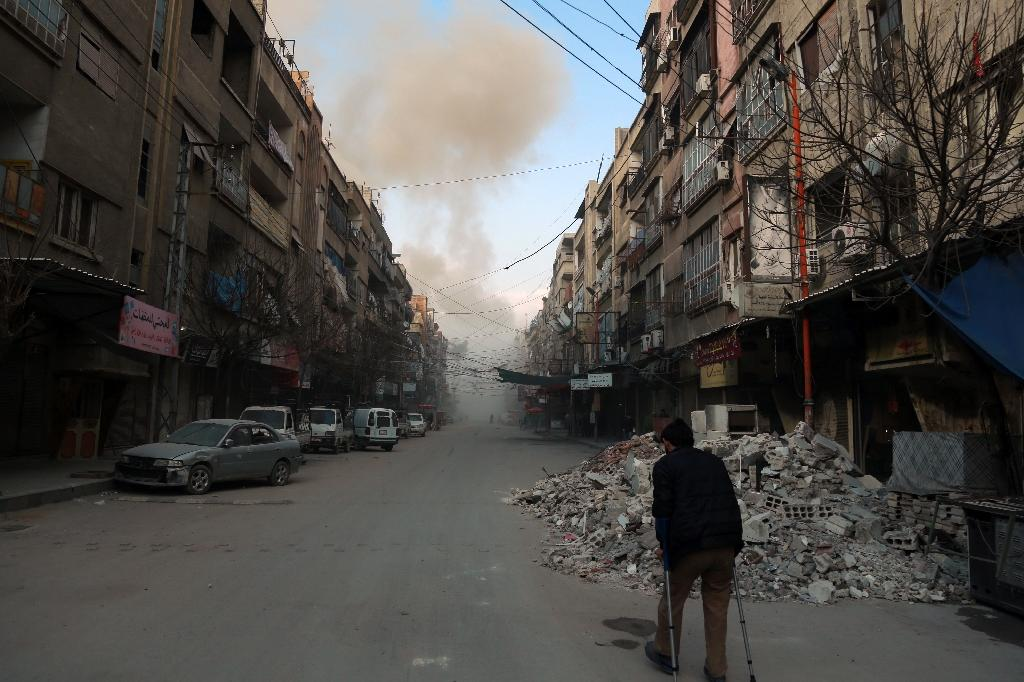 Regime air strikes and artillery have been pounding the rebel enclave of Eastern Ghouta near Damascus since February 18