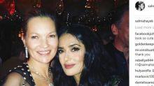 Salma Hayek pone el broche de oro a los Bafta saliendo de fiesta con Kate Moss