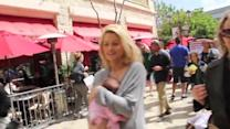 Holly Madison Shows Off Slim Post-Baby Stomach