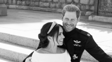 Prince Harry and Meghan Markle release first royal wedding photos