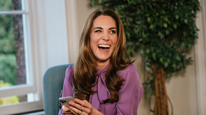 Kate Middleton rewears purple Gucci blouse backwards for Instagram video Q&A