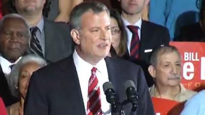 De Blasio Gets Decisive Win in NYC Mayor's Race