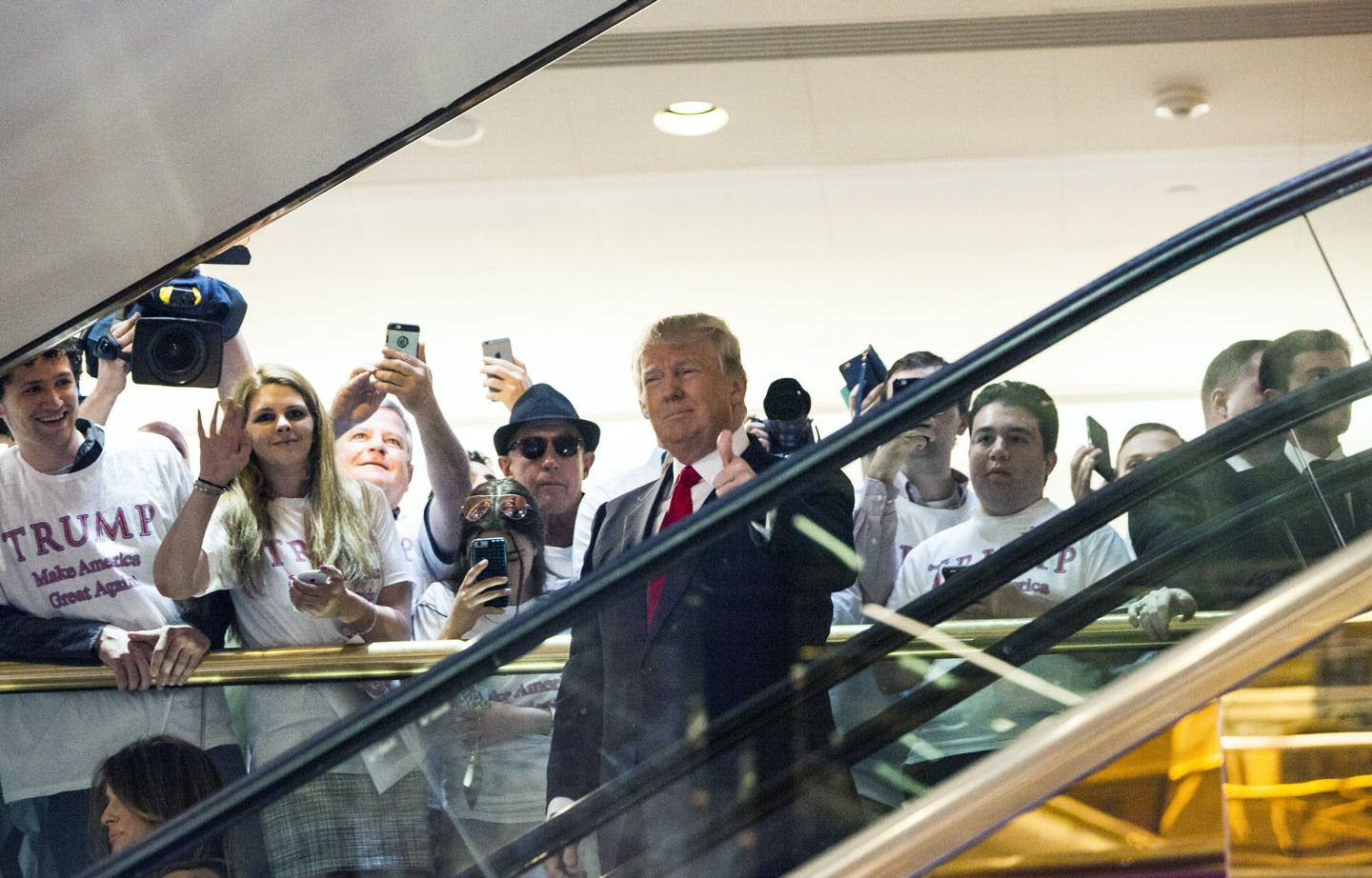 From Trump to Trudeau, the escalator is a favorite symbol of political campaigns
