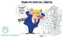 L'actu en dessin : contaminé, Donald Trump reprend sa campagne