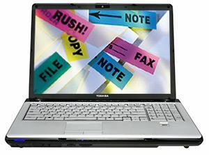 Toshiba's gives their 17-inch Satellite P205D a bump