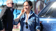 Meghan Markle dresses down in denim jacket for second day of South Africa royal tour
