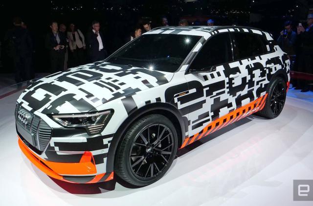 Audi put 250 camouflaged e-tron prototypes on Geneva's roads