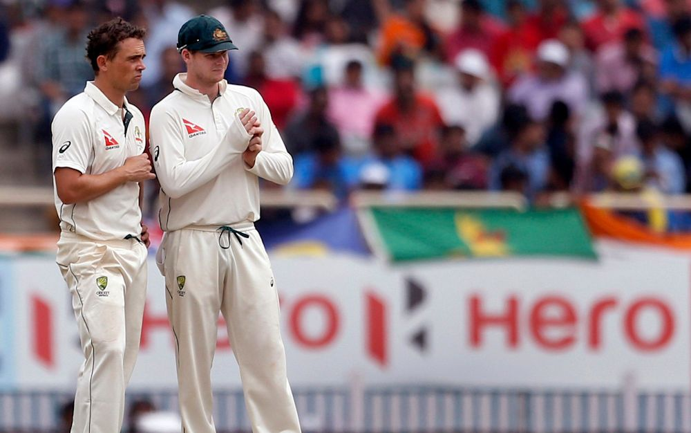 Steve Smith was able to call upon two genuine spinners against India - AP