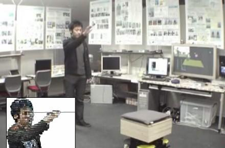 Gesture-controlled robot is at your service