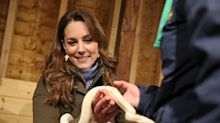 Duchess of Cambridge turns snake charmer on surprise visit to Northern Ireland
