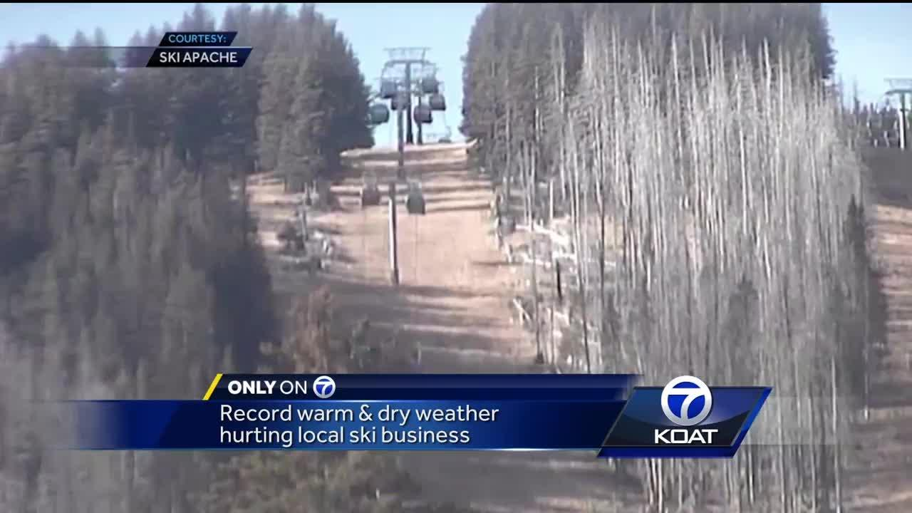 Record warm weather hurting local ski businesses [Video]