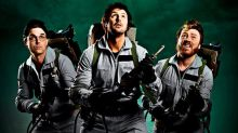 Keith Lemon, Paddy McGuinness and Robbie Williams suit up for Ghostbusters parody