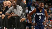 Tony Allen makes Michael Jordan crack up, on an otherwise dreary night (Video)
