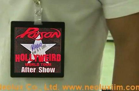 Neolux badges bring e-ink technology to trade show vendors, sweaty rock dudes
