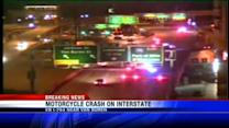 Motorcycle crash on interstate