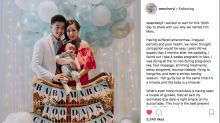 Actress Cheryl Wee celebrates baby's first 100 days, reveals name