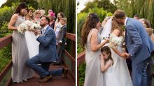 Twin steals the limelight on sister's wedding by getting engaged