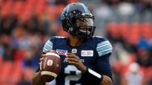 Argonauts rally past Alouettes on record-tying rushing TD
