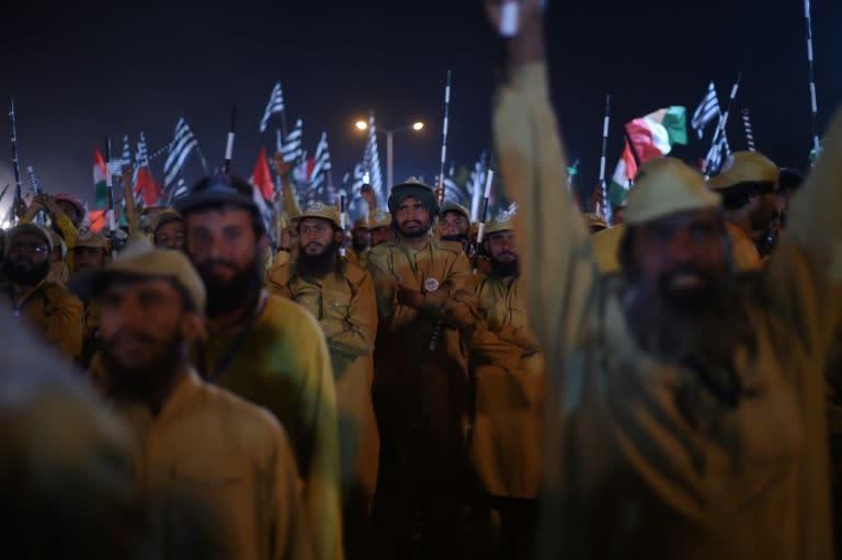 Activists are calling for the resignation of Pakistani Prime Minister Imran Khan (AFP Photo/FAROOQ NAEEM, FAROOQ NAEEM)