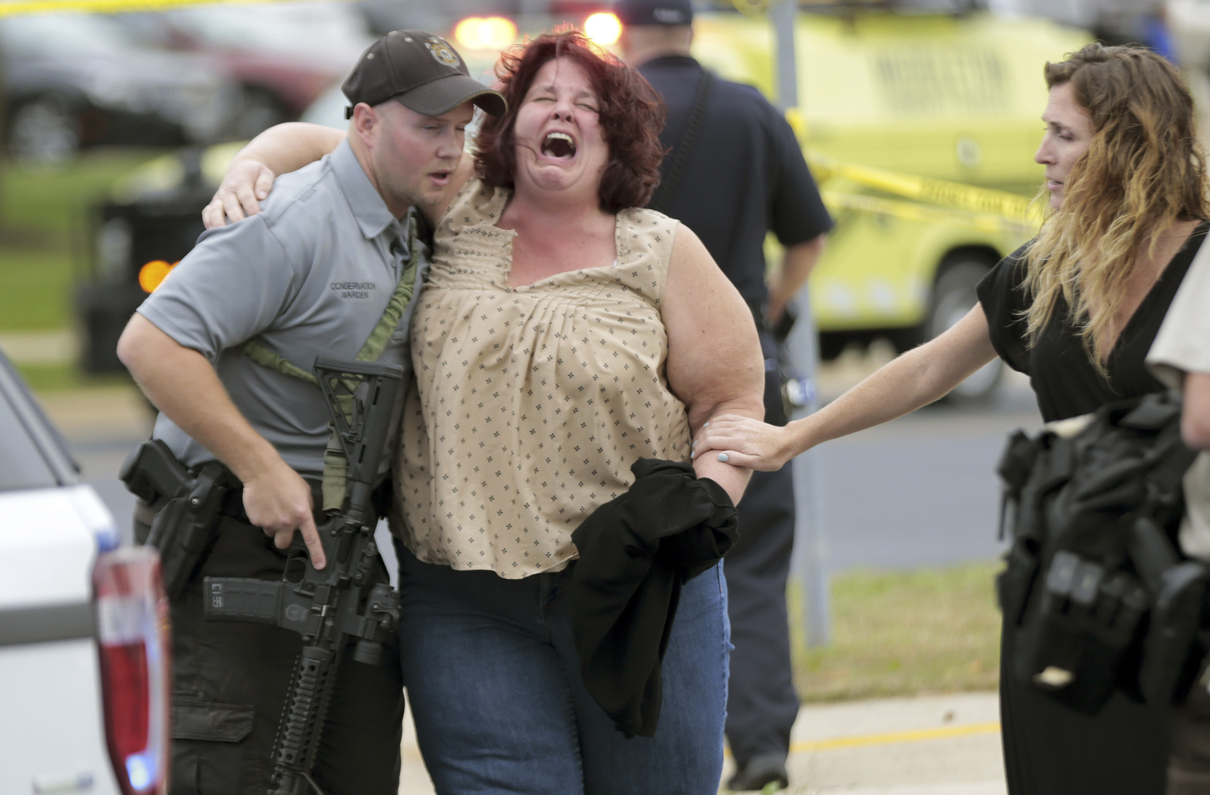 The Latest: Wisconsin workplace shooter dead, shot by police