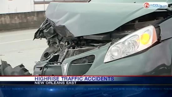 Highrise traffic accidents snarl Thursday morning commute