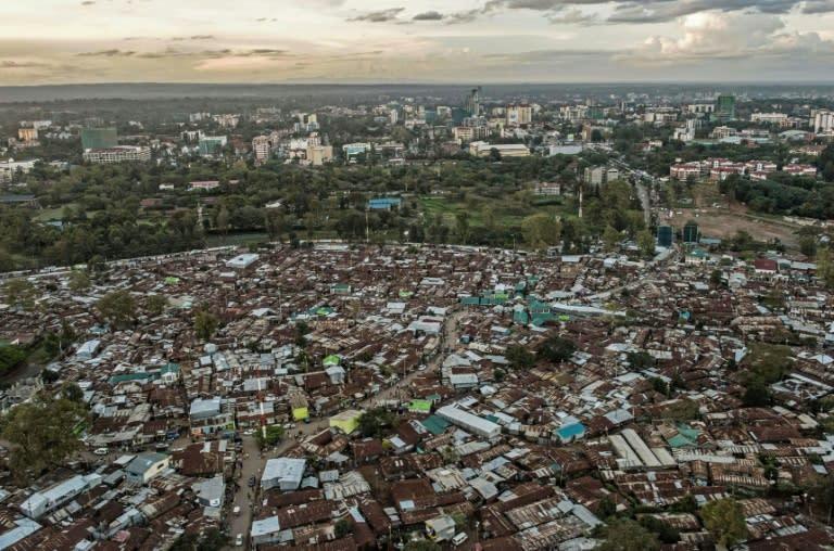 The Kibera slum in Nairobi. Coronavirus lockdowns will have a devastating impact on Africa's urban poor, say experts (AFP Photo/FREDRIK LERNERYD)