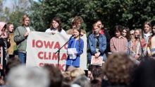 Iowa teens delighted as Greta Thunberg leads unexpected climate strike