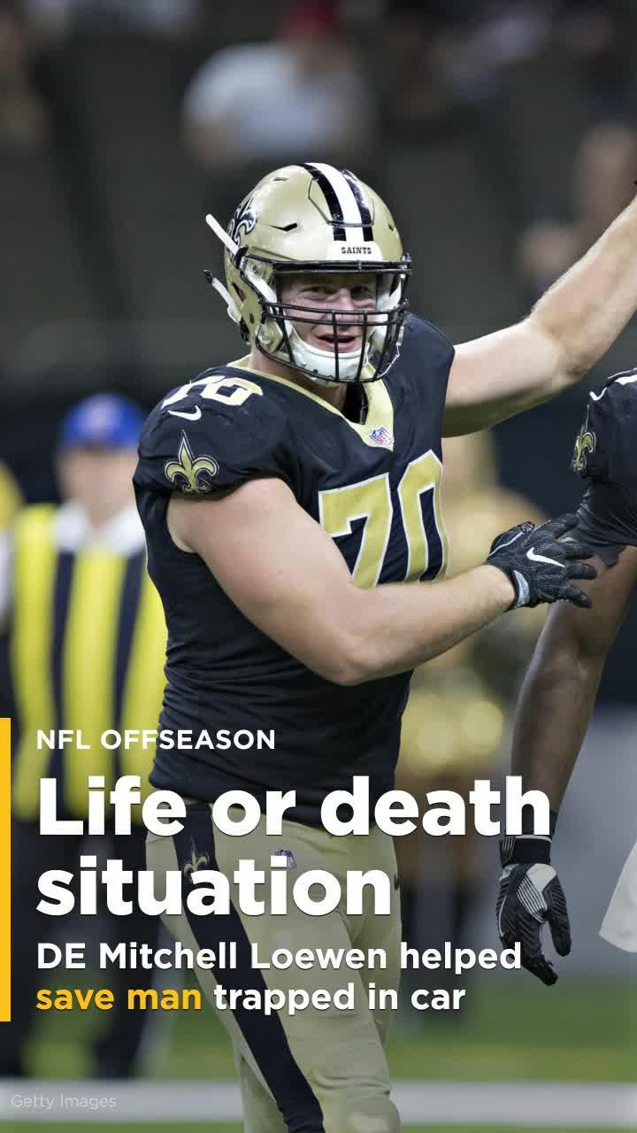 Saints lineman helped save man trapped in car that fell for Garage ad orleans