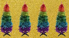 Rainbow Christmas trees are here to brighten up the festive season