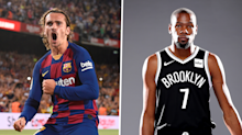 Griezmann given Barcelona No.7 shirt after announcement by NBA star Kevin Durant