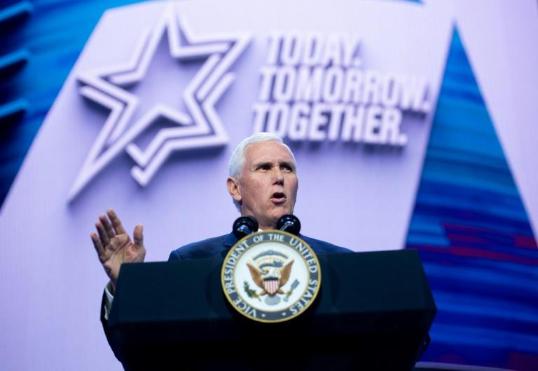 Vice President Mike Pence was among numerous high-profile politicians at the Washington conference