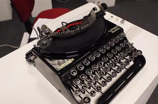 Student upgrades a 1930s typewriter for modern-day messaging