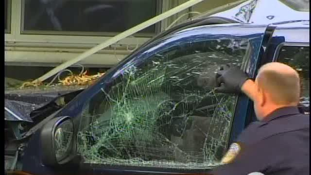 Bank robbery ends in chase and crash