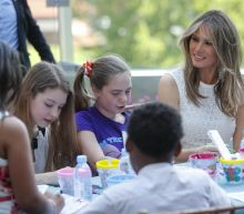 First Lady dedicates 'healing' garden at children's hospital