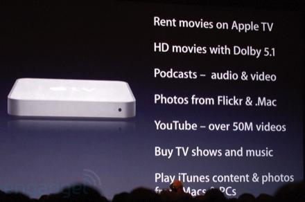 Apple TV, take 2 brings HD movie rentals to the living room