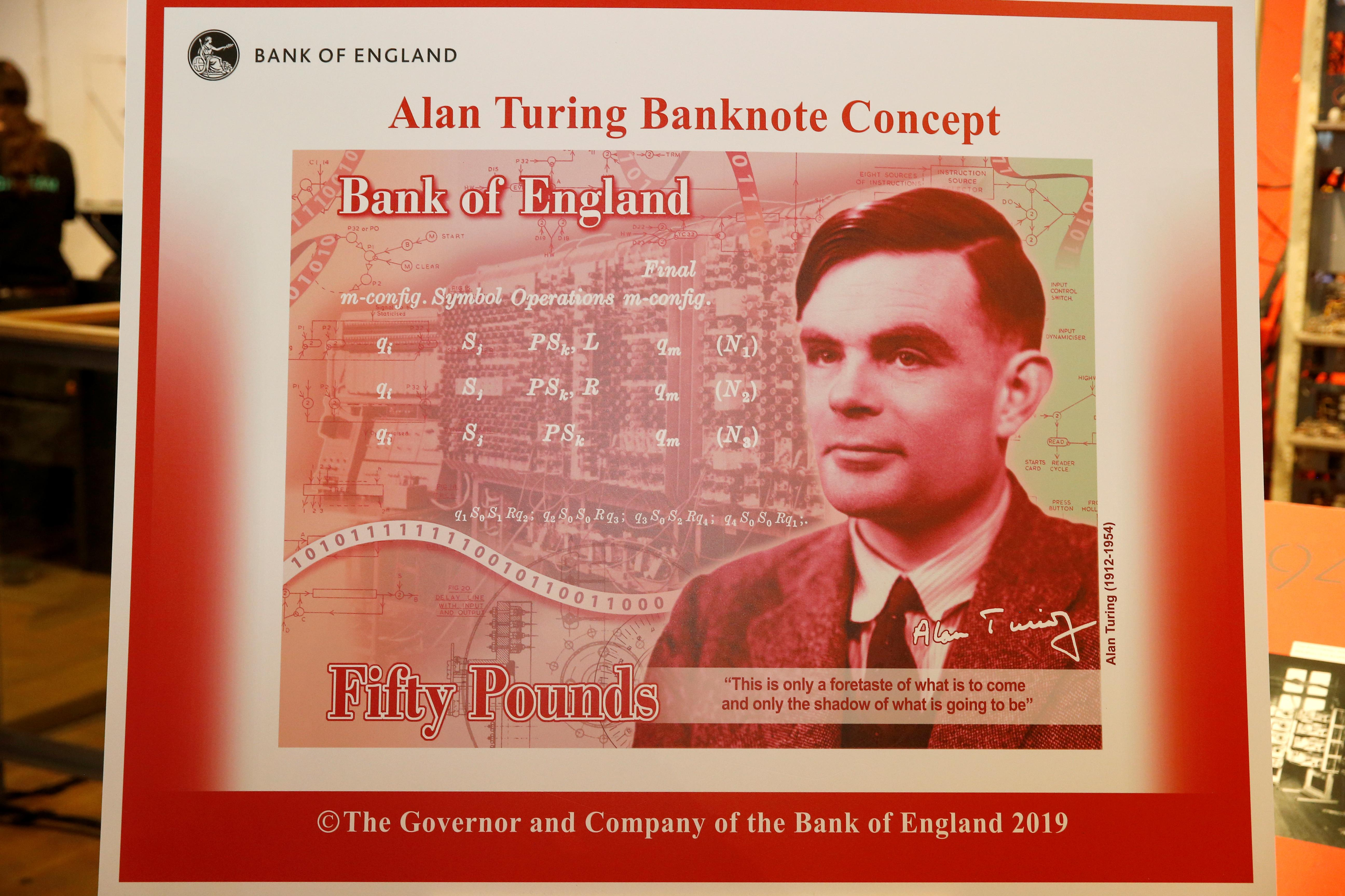 Alan Turings £50 banknote officially unveiled | DFW