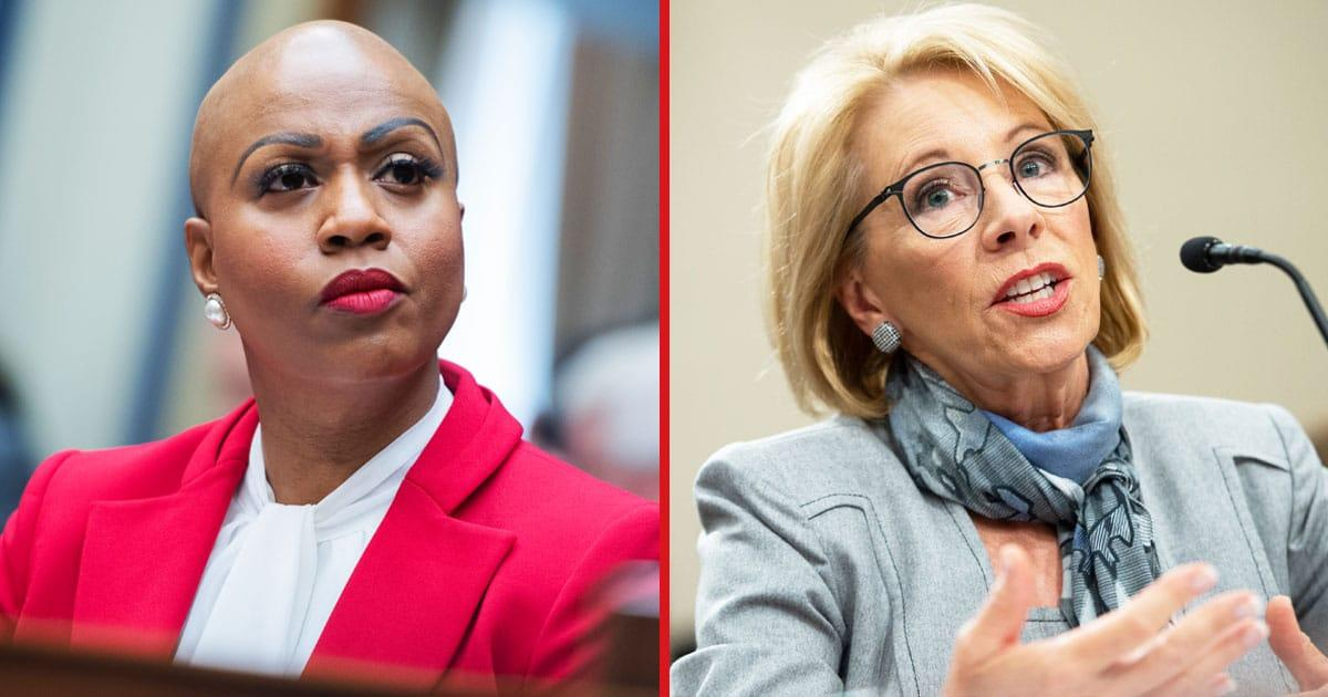 Ayanna Pressley Slams Betsy DeVos On Her Insistence That Schools Reopen