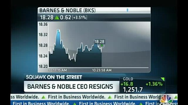 Barnes & Noble CEO Resigns
