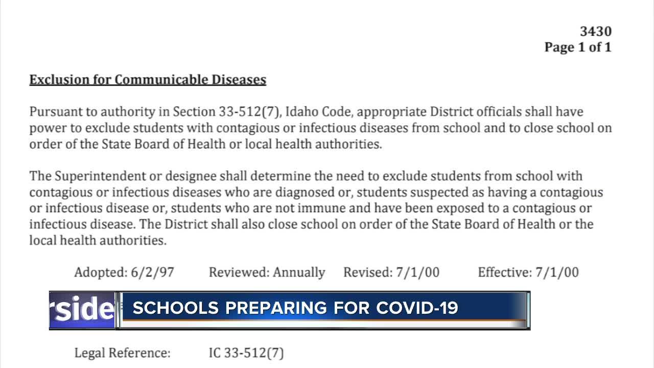 Schools preparing for COVID-19, no confirmed cases Video
