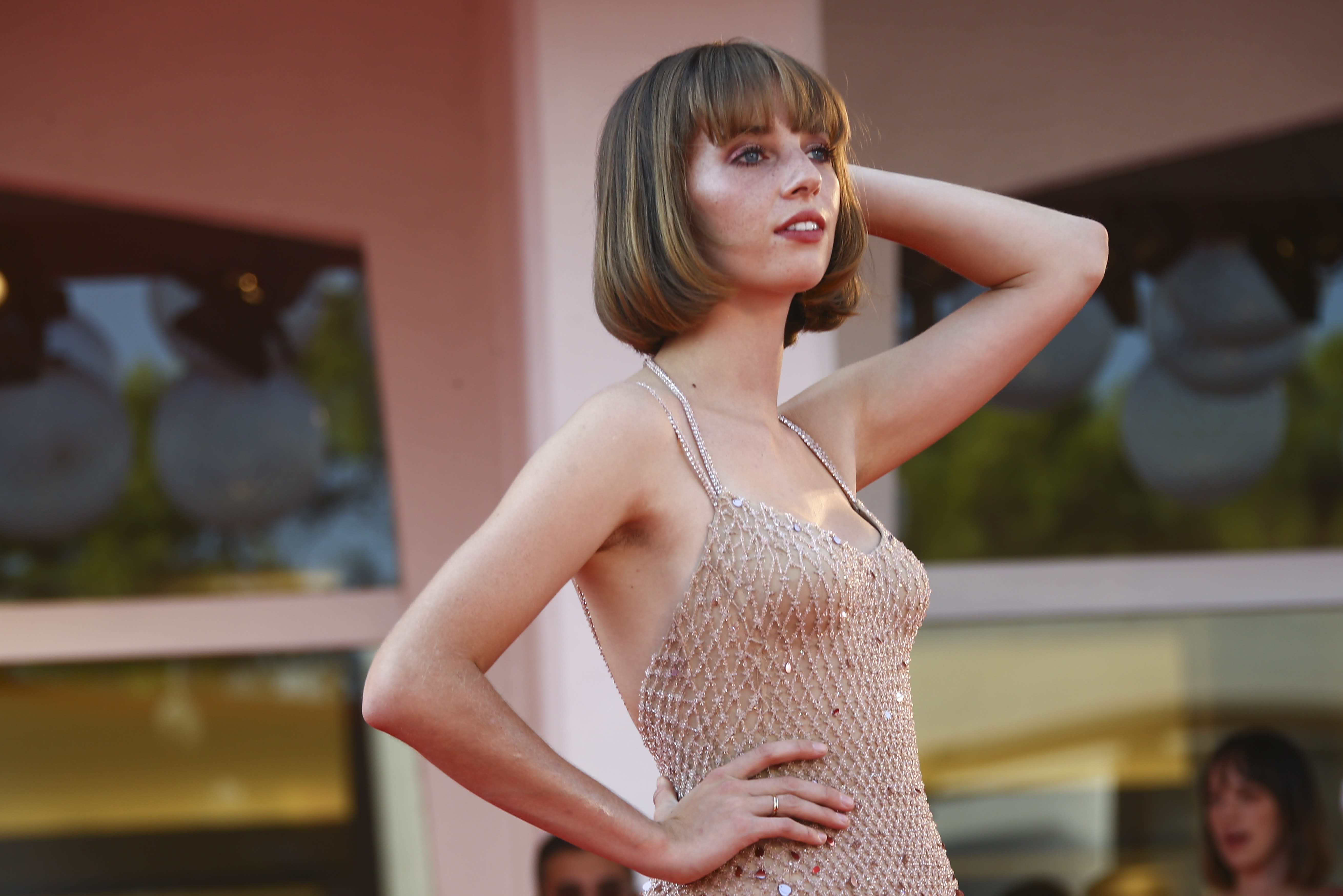 Actress Maya Hawke poses for photographers upon arrival at the premiere for the film 'Mainstream' during the 77th edition of the Venice Film Festival in Venice, Italy, Saturday, Sept. 5, 2020. (Photo by Joel C Ryan/Invision/AP)