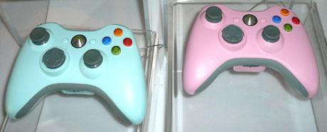 Colored Xbox 360 controllers